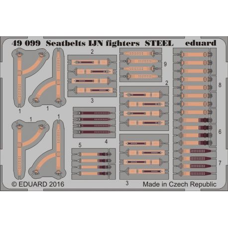 EDUARD 49099 Seatbelts IJN fighters STEEL 1/48