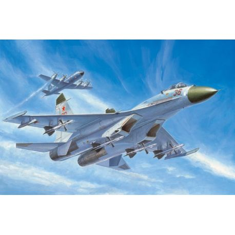 TRUMPETER 01661 Russian Su-27 Early type Fighter