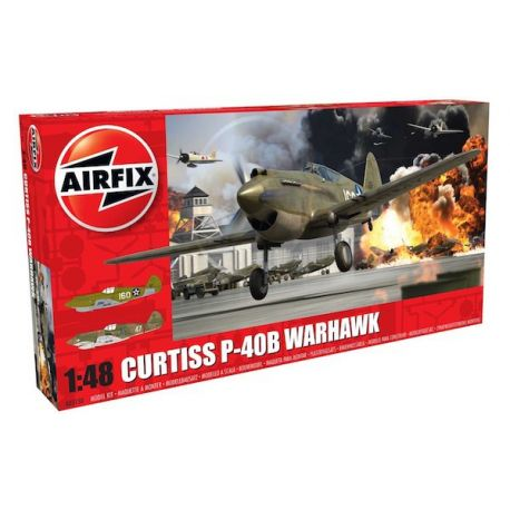 AIRFIX A05130 Curtiss P-40B Tomahawk 'Flying Shark' 1/48