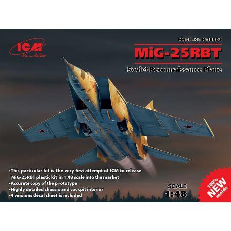ICM 48901 Mikoyan MiG-25RBT Soviet Reconnaissance Plane (100% new moulds)