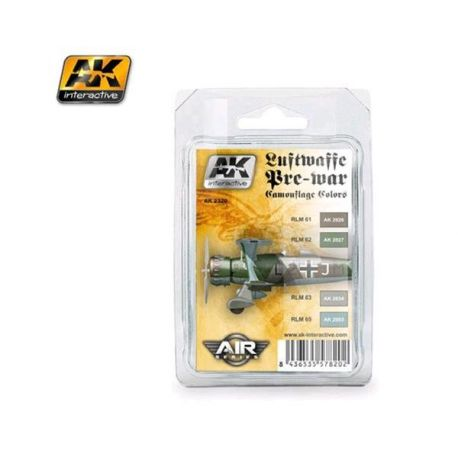 AK INTERACTIVE 2320 Luftwaffe PreWar Camouflage Colors Set