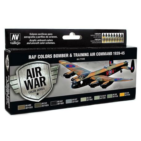 Vallejo 71145 Air War Color Series - RAF Colors Bomber & Training Air Command 1939-45 Set