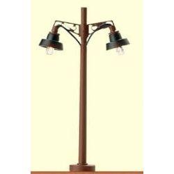BRAWA 4611  LAMPIONE IN LEGNO DOPPIA LUCE SCALA N