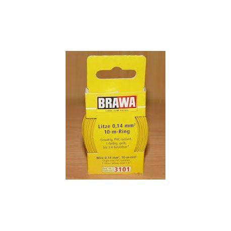 BRAWA 3101 CAVO ELETTRICO 0,14 MQ 10 METRI GIALLO