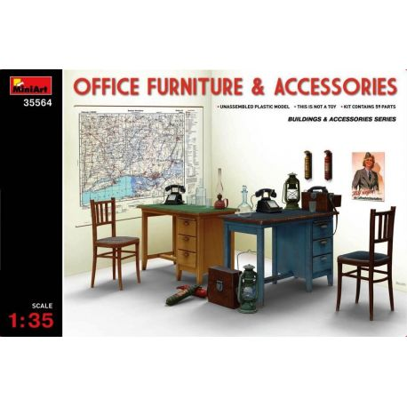 MINIART 35564 Office Furniture & Accessories 1/35