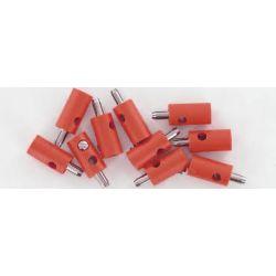 BRAWA 3051 CONFEZIONE 10 SPINOTTI ROSSI CON PIN GRANDE