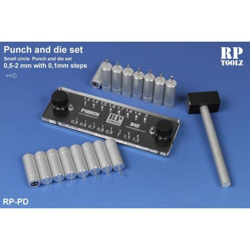 Punch and die set, punte circolari