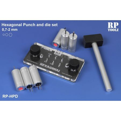 Punch and die set, punte esagonali