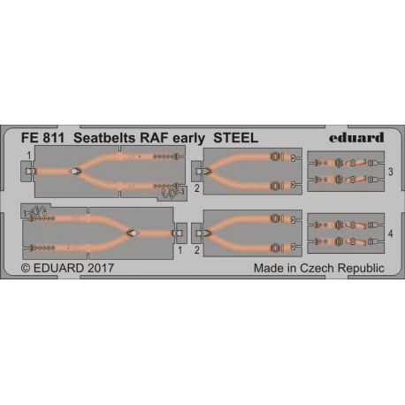 EDUARD FE811 Seatbelts RAF early STEEL 1/48