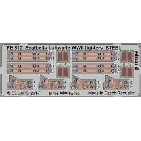 EDUARD FE812 Seatbelts Luftwaffe WWII fighters STEEL 1/48