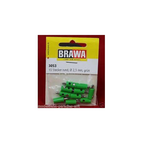 BRAWA 3053 CONFEZIONE 10 SPINOTTI VERDI CON PIN GRANDE