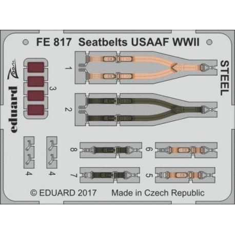 Eduard FE817 Seatbelts USAAF WWII STEEL