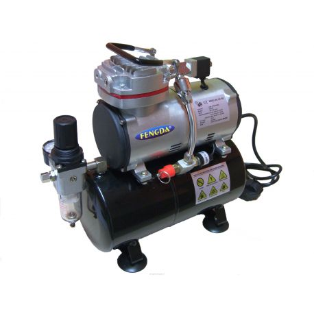 Fengda AS-189 Compressore con serbatoio 23L/MIN 4-6 bar