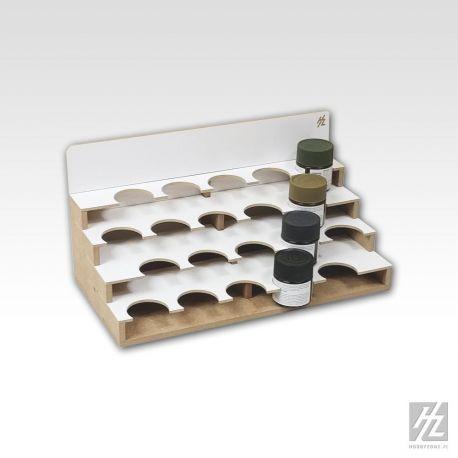 Hobbyzone -Organizer modulare per 26 boccette di colore diametro 36mm. Dimensioni cm 30x15x15