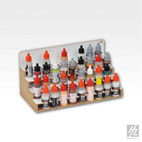 Hobbyzone -Organizer modulare per 36 boccette di colore diametro 26mm. Dimensioni cm 30x15x15