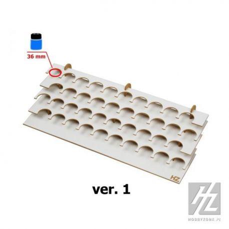 HobbyZone: Organizer modulare GRANDE per 40 boccette di colore diametro 36mm. Dimensioni cm 42,5x18x9,5