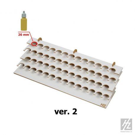 HobbyZone Postazione PICCOLA per 54 boccette di colore diametro 26mm. Dimensioni cm 42,5x18x9,5