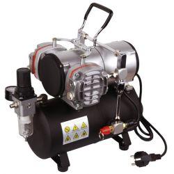 Fengda AS-28A Compressorio doppio pistone con serbatoio da 3 litri